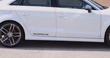 2x AUDI QUATTRO Aufkleber A1 A3 A4 A5 A6 S4 S6 Q3 Q5 Car Sticker Vinil Decal 268