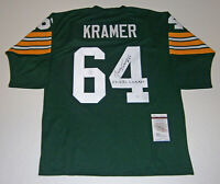 PACKERS Jerry Kramer signed jersey w/ 5X Champs JSA COA AUTO Autograph Green Bay