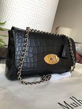 e9b9da7e49e0 Authentic Mulberry Handbag Lily Medium Black Croc BNWT Sold Out £1100 Dust  Bag