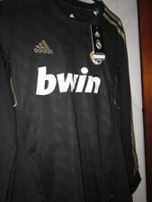 NEW NWT SOCCER JERSEY REAL MADRID LONG SLEEVE RONALDO RARE VINTAGE SMALL BLACK