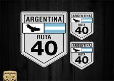 STICKER DECAL ADESIVI PEGATINA RUTA 40 ARGENTINA ROAD