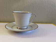 NORITAKE THULE FOOTED CUP AND SAUCER