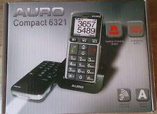 AURO Auro Compact 6321 Seniorenhandy - Grau (Ohne Simlock) großen Tasten Handy.
