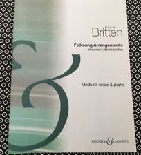 Benjamin Britten Folksong Arrangements Vol 3 British Isles: medium voice & piano