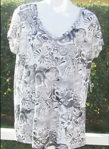 LUCKY BRAND WHITE MULTI FLORAL COTTON EMBELLISHED SHORT SLEEVE SHIRT XS NEW