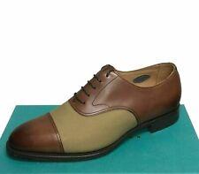 Edward Green Men's Shoes Sizes 10 / 10.5 US E82 WEYMOUTH II Leather & Twill -New