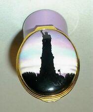 Halcyon Days Enamel Box - Statue Of Liberty At Sunset - New York City - Mib