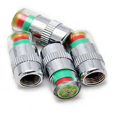 4x Car Auto Tire Monitor Valve Dust Cap Pressure Indicator Sensor Eye Alert