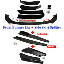 Universal Car Front Bumper Lip Spoiler Diffuser Body Kits Side Skirt Rear Lip Fits 2013 Honda Civic Si