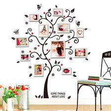 Wandtattoo Wandsticker Baum Foto Rahmen Geschenkidee Familenbaum Fotobaum #97