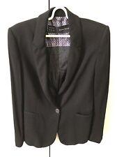 Zara Women's Soft Suit Jacket Size S 8-10 Black Work Office