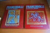 Francobolli di tutto il mondo 2 volumi Manuale Storia  Fabbri