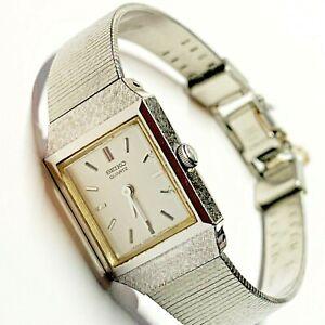 SEIKO Vintage 90s Women's Quartz S/Steel Watch 2C20-5290, Square Face (NW)