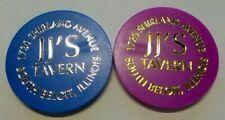 (2) SOUTH BELOIT ILLINOIS JJ'S TAVERN DRINK TOKENS TOKEN