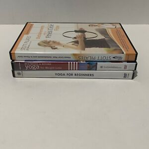 Lot of 3 Yoga and Pilates Workout DVD's - Perfect for Beginners - Fitness Circle