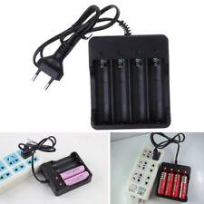 Battery Charger 4 Slot Universal Rechargeable 4.2V Li-ion EU Plug Tool For 18650