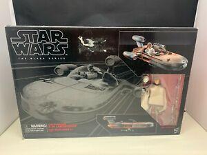 "Star Wars Black Series X-34 Landspeeder & 6"" Luke Skywalker action figure Hasbro"