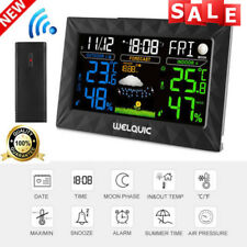 Welquic Wireless COLOR LCD Weather Station Indoor Outdoor Temperature Clock
