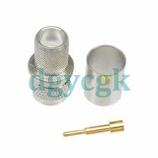 2pcs connector mini UHF male plug crimp RG8 LMR400 RG213 RG165 straight M