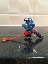 Vintage Peyo/Schleich Canadian Ice Hockey Smurf/Schlumpf/Schtroumpf