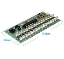 MCU Adjustable Display Pattern LED VU Meter Level Indicator 16LED Dual Channel