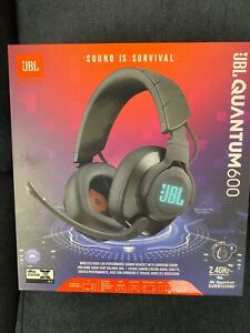 JBL Quantum 600 Wireless Over-Ear Gaming Headset with Microphone and RGB - Black