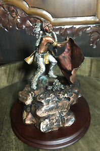 Legends Art Sculpture Warning Vintage 1990 Bronze C.A. Pardell