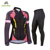 New Womens Ciclismo Bike Racing Clothing Outdoor Cycling Jersey & Pants Set/Kits