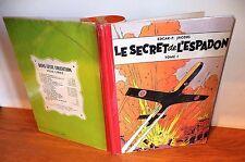 """Edition Blake et Mortimer """"le secret de l'espadon"""" toilé Lombard peau ours 1956"""