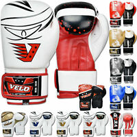 VELO Kids Boxing Gloves Junior Sparring Punch Mitts Training Punching Bag