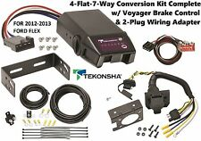 2012-2013 FORD FLEX TEKONSHA 4FLAT-7WAY CONVERSION W/ VOYAGER BRAKE CONTROL NEW