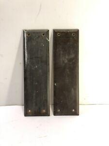 Antique Brass Push Door Plates