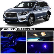 15x Blue Interior LED Lights Package Kit for 2013-2016 QX60 JX35