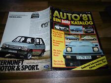 AUTO KATALOG 1981 -- Händler- Einkaufs u. Verkaufspreise - Gebrauchtwagenpreise