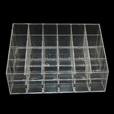 2pcs X 24-Cell Steps Up Clear Acrylic Lipstick Retail Display Rack Holder Stand
