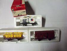 Jouef HO (1/87) 3 Wagons de Marchandises
