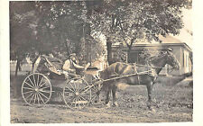 Wilber NE R.F.D. Mail Delivery Horse & Wagon Post Office Real Photo Postcard