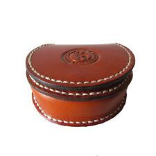 Tourbon Coin Holder Purse Change Hard Zipper Case Wallet Real Leather Handmade