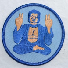 Blue Buddha Iron-on Embroidered Clothing Patch Applique Vest Jacket Jeans Retro