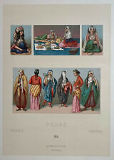 Racinet 5 Lithographies 1888 Costume Turquie Perse Ulémas turban