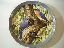 Collectors Plate Danbury Mint ''Bright And Early'' Winged Treasures Birds