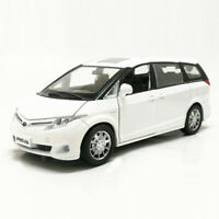 Toyota Previa MPV 1:32 Scale Model Car Diecast Gift Toy Vehicle Kids White Sound