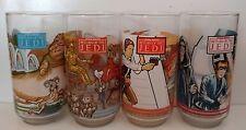 Vintage 1983 Complete Set of 4 Burger King Star Wars Return of The Jedi Glasses