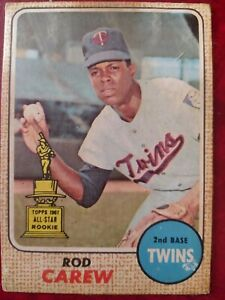 Rod Carew 1968 Topps Venezuela #80 Very Rare Venezuelan card *Set Break