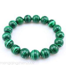 8mm Green Natural Malachite Bracelet Bangle Round BeadS Women Men Jewelry Hot
