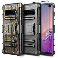 For Samsung Galaxy S10e S10 Plus Case Belt Clip Holster Cover + Screen Protector