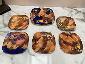 H&K Tunstall Autumn Viola Luscious Large Plate Tea Plate Saucers Tea Cup Set