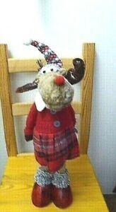 Weihnachten Deko  Figur Elch Frau