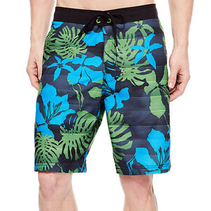Speedo Graduated Floral Board Shorts Size M New Msrp $56.00