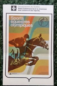 1976 Montreal Olympic Equestrian Sticker
